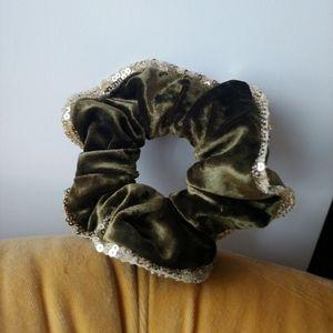 Velvet & sequin Scrunchie
